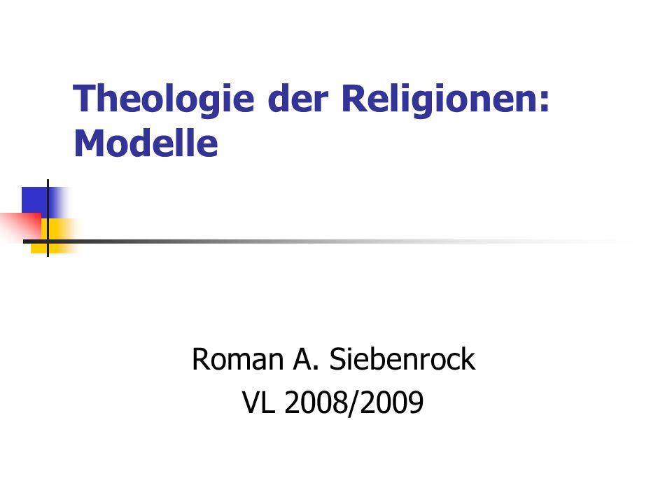 Theologie der Religionen: Modelle