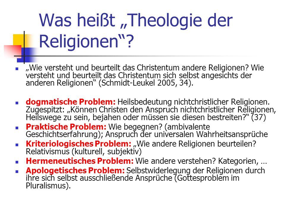"""Was heißt """"Theologie der Religionen"""