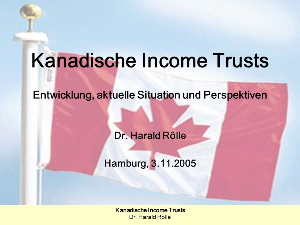 Kanadische Income Trusts