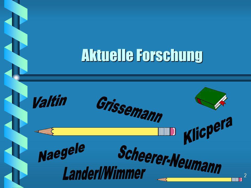 Aktuelle Forschung Valtin Grissemann Klicpera Naegele Scheerer-Neumann