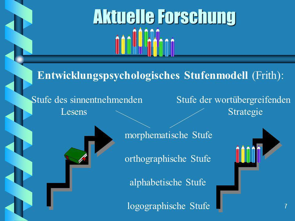 Entwicklungspsychologisches Stufenmodell (Frith):