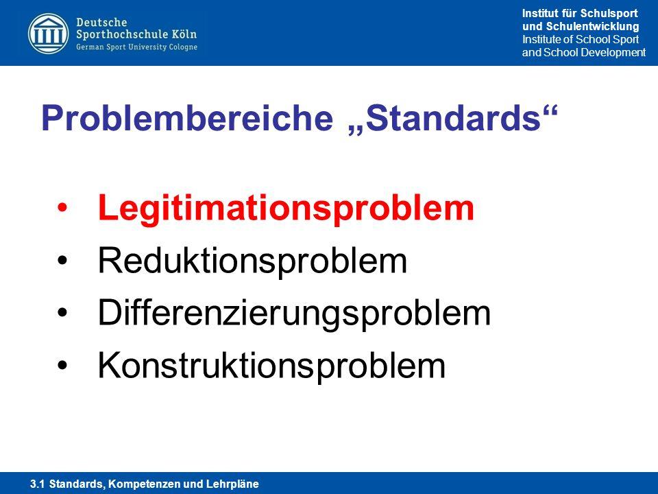 """Problembereiche """"Standards"""