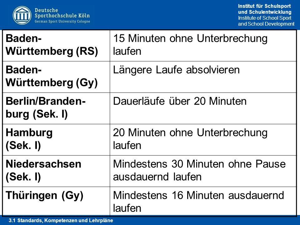 Baden-Württemberg (RS) 15 Minuten ohne Unterbrechung laufen