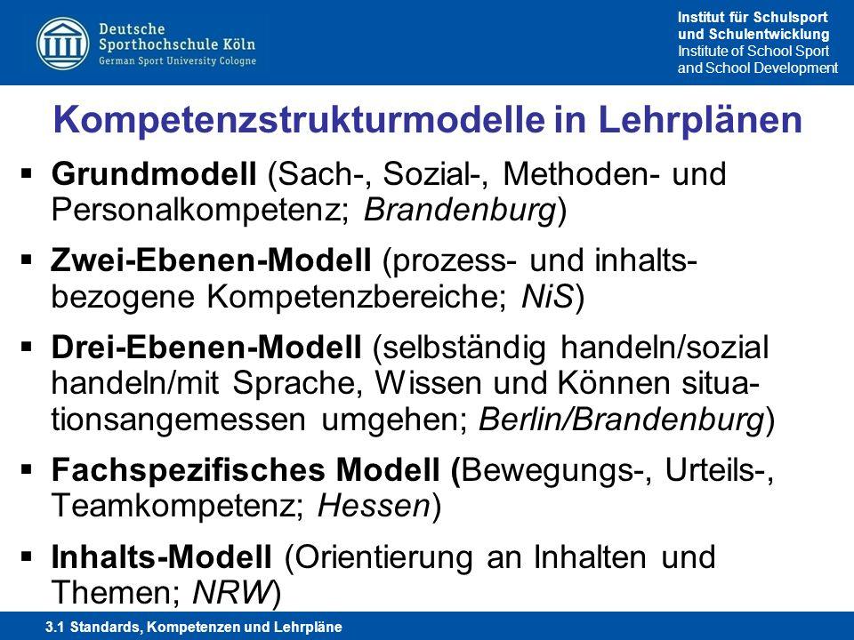 Kompetenzstrukturmodelle in Lehrplänen