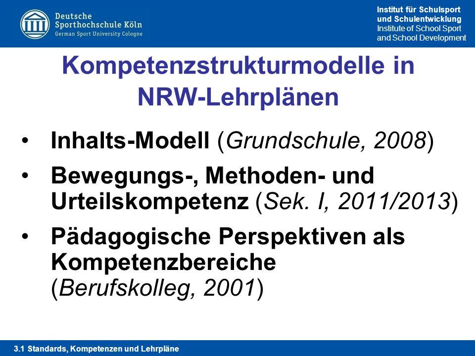 Kompetenzstrukturmodelle in NRW-Lehrplänen