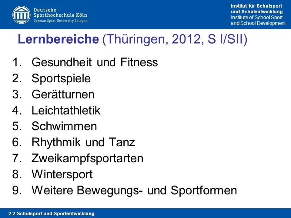 Lernbereiche (Thüringen, 2012, S I/SII)