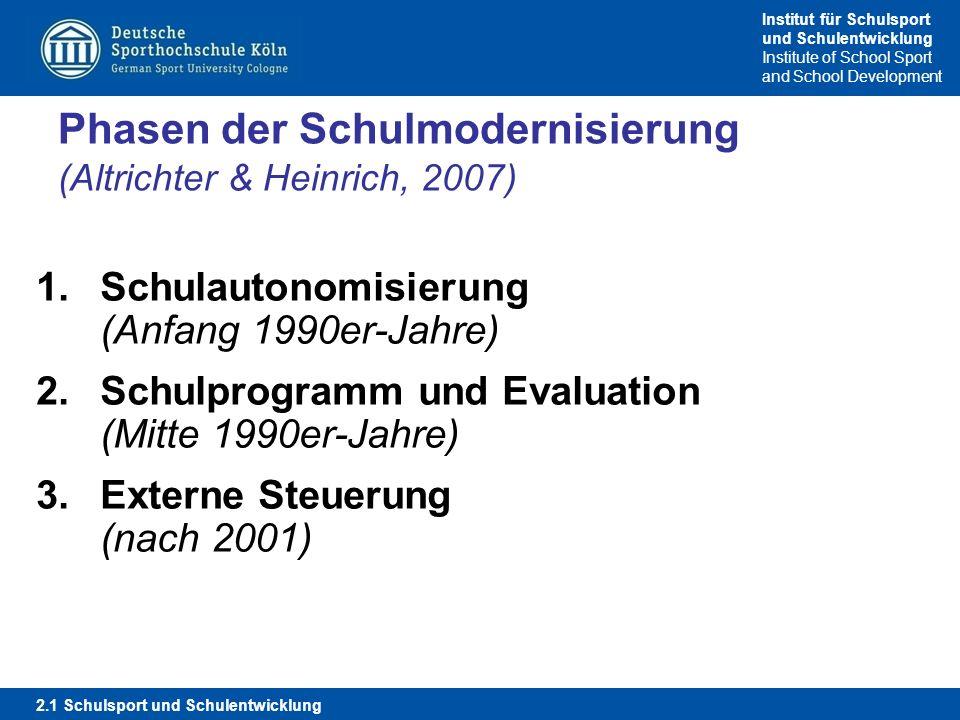 Phasen der Schulmodernisierung (Altrichter & Heinrich, 2007)