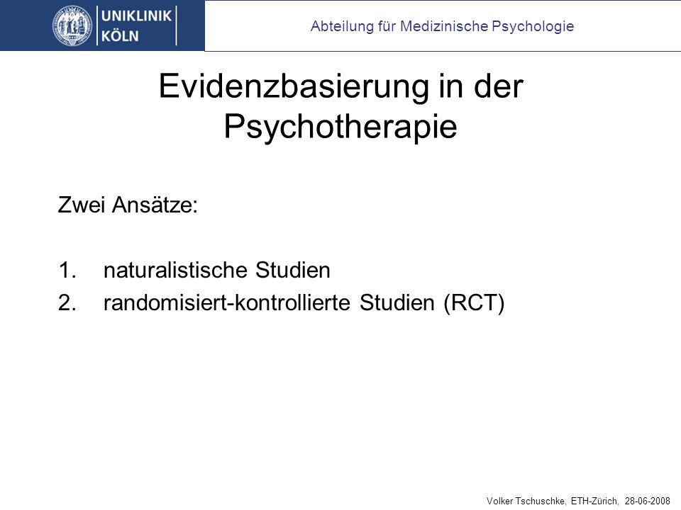 Was also ist spezifisch an Psychotherapien
