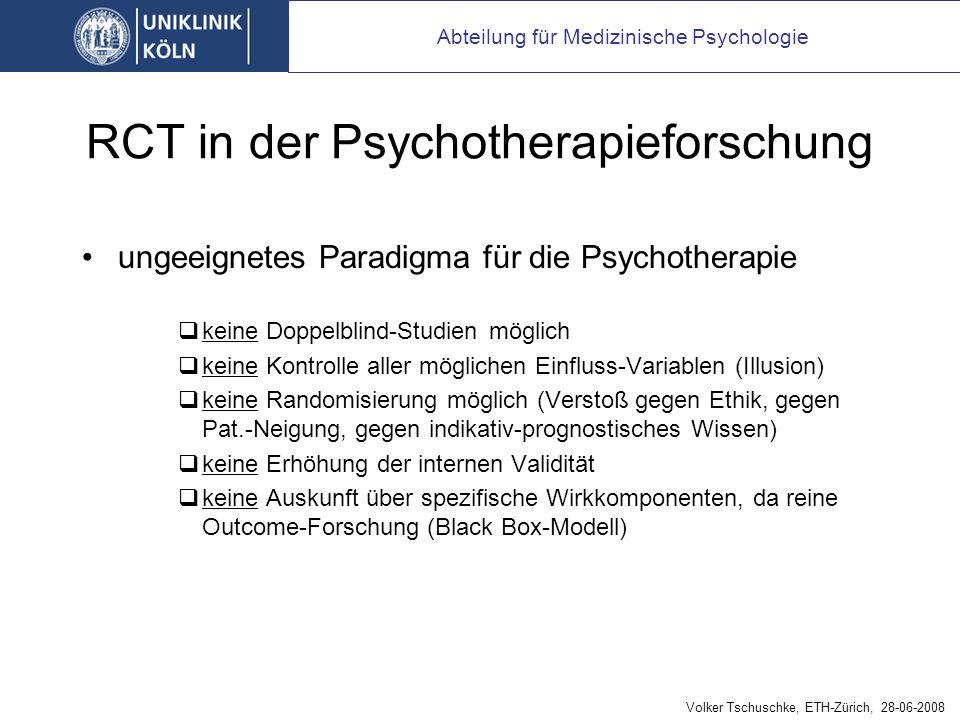 RCT in der Pharmaforschung bzw. medizinischen Forschung