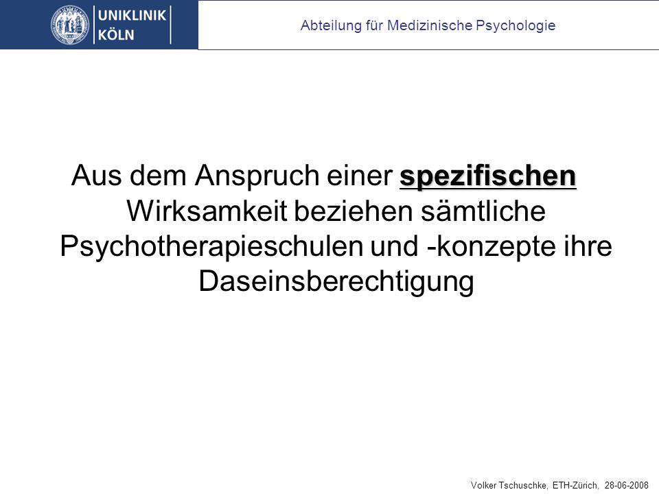 Psychotherapie muss ihre spezifische