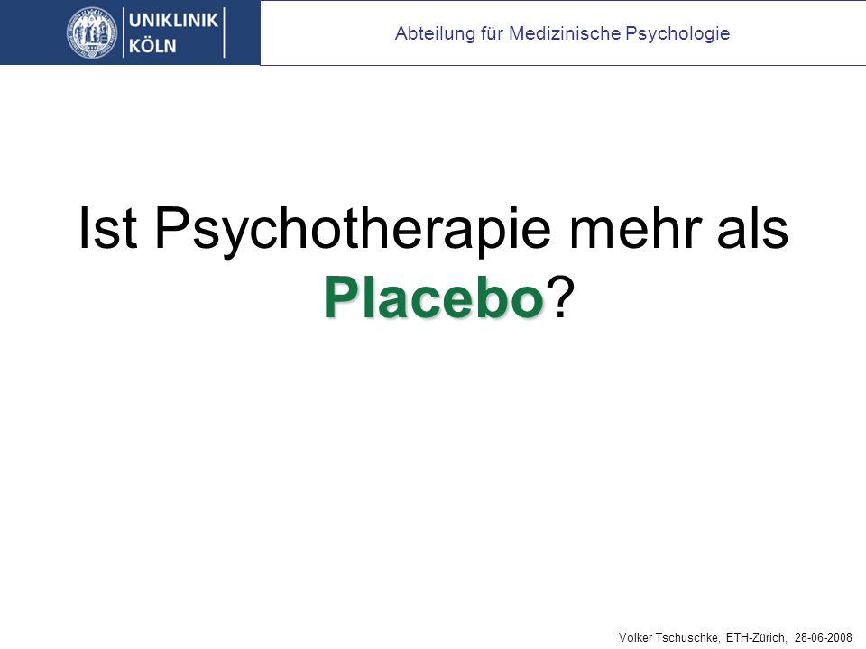 Aber: wie spezifisch ist Psychotherapie