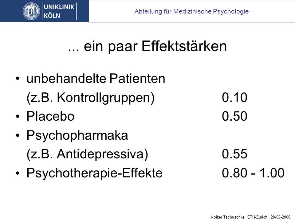 Ist Psychotherapie mehr als Placebo
