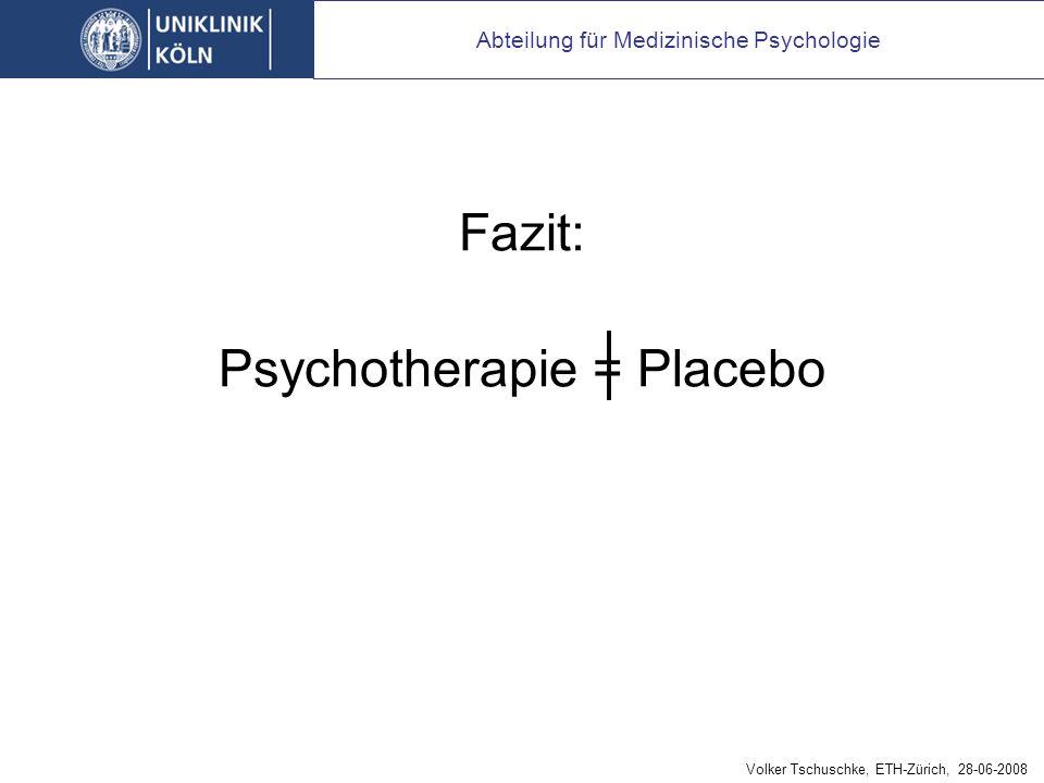 Placebo-Kontrollgruppen versus Psychotherapie