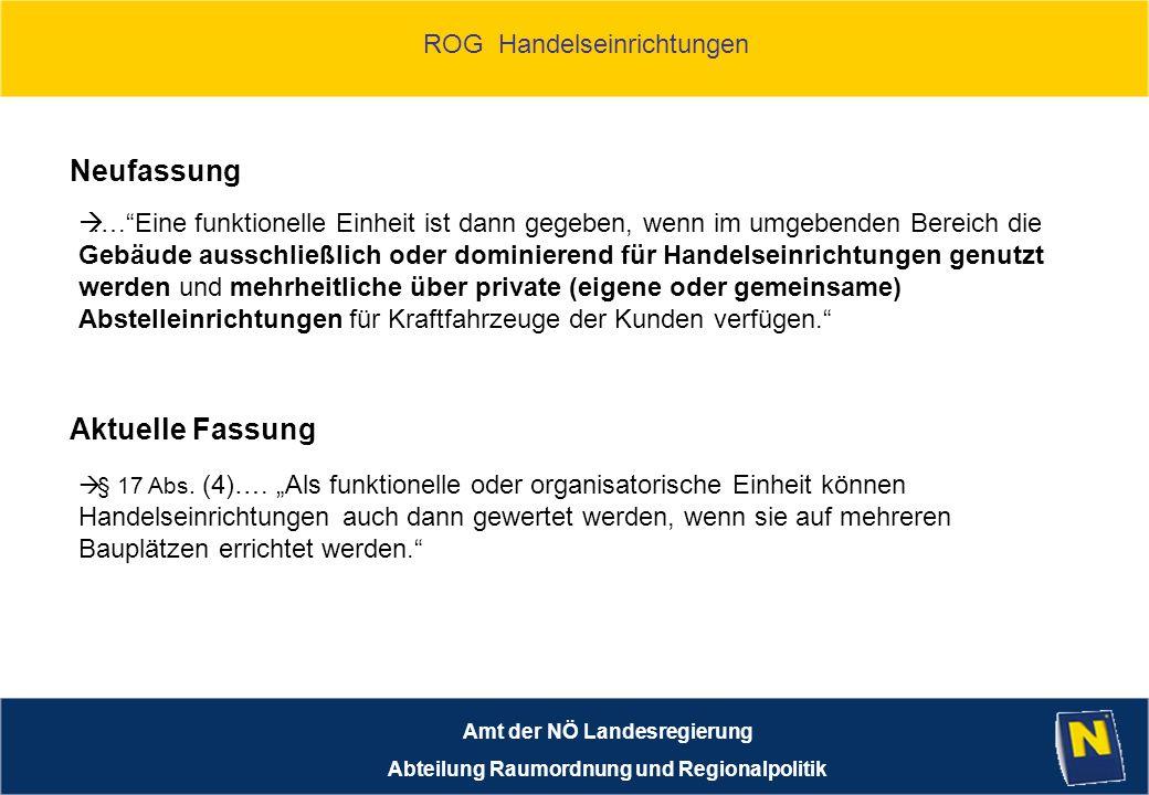 Amt der NÖ Landesregierung Abteilung Raumordnung und Regionalpolitik