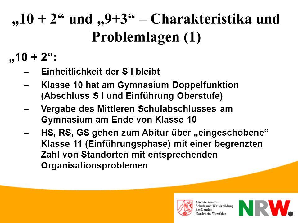 """""""10 + 2 und """"9+3 – Charakteristika und Problemlagen (1)"""