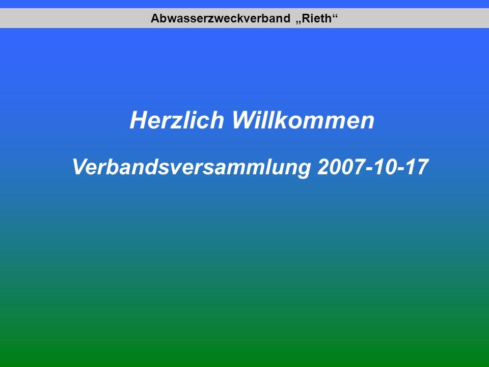 """Abwasserzweckverband """"Rieth Verbandsversammlung 2007-10-17"""