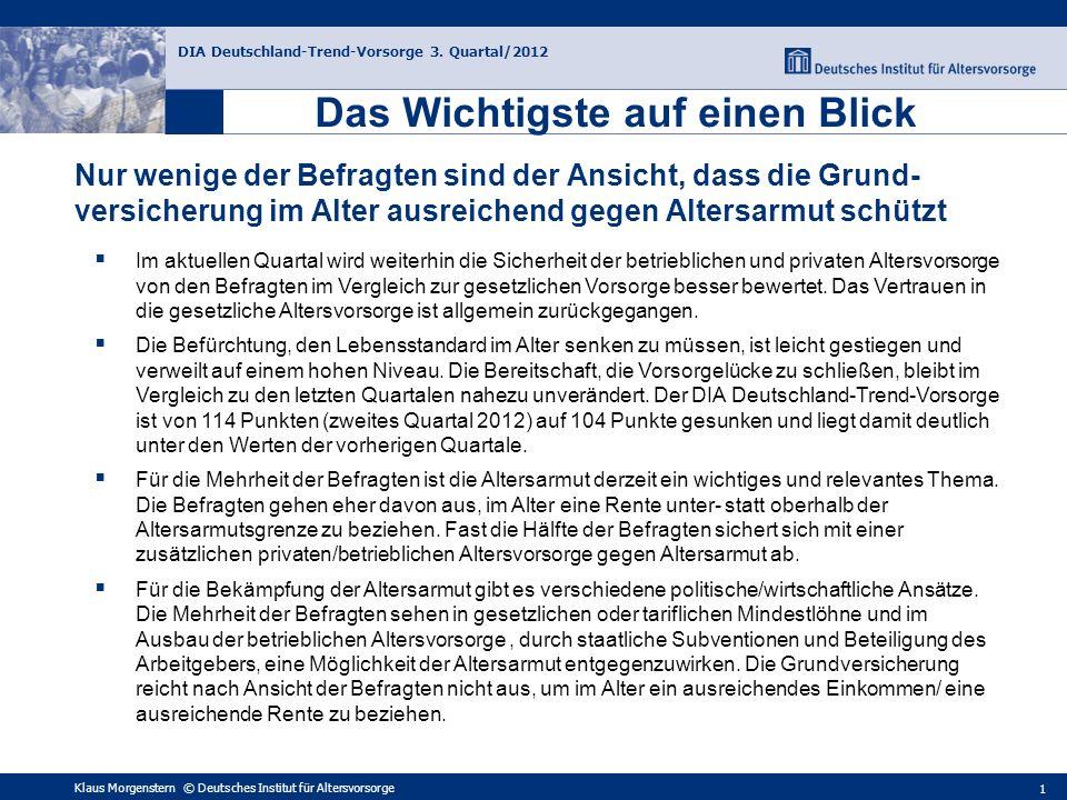 Faktoren des DIA Deutschland-Trend-Vorsorge