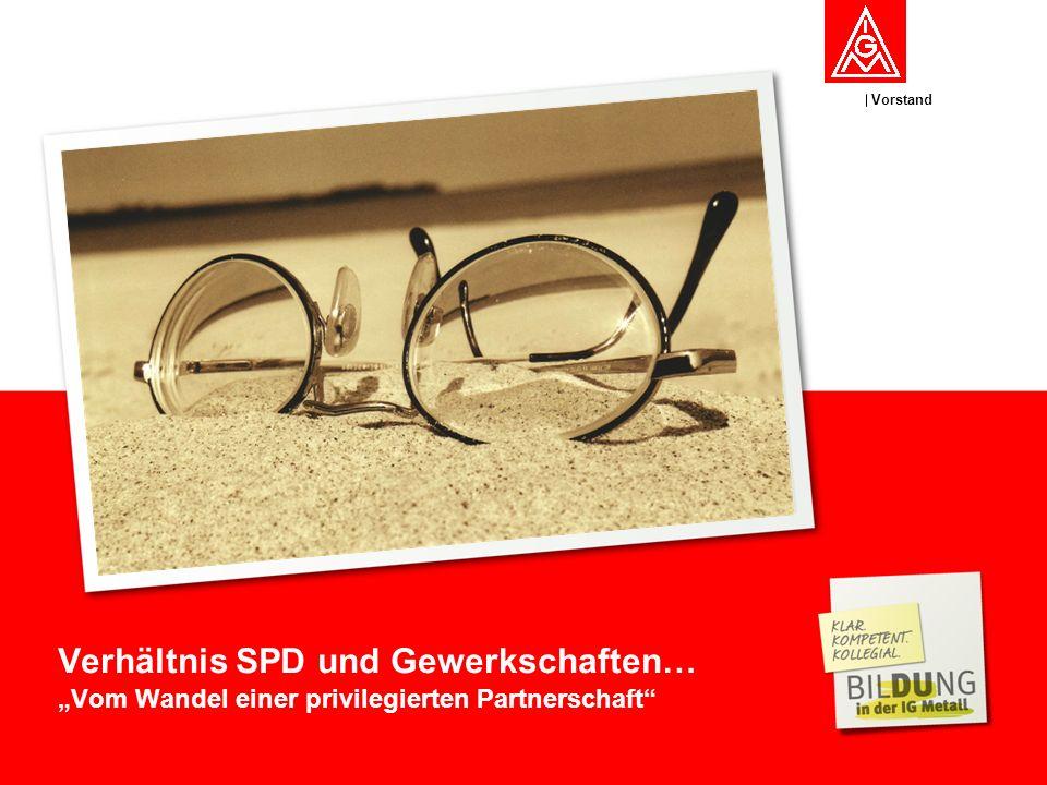 Verhältnis SPD und Gewerkschaften…