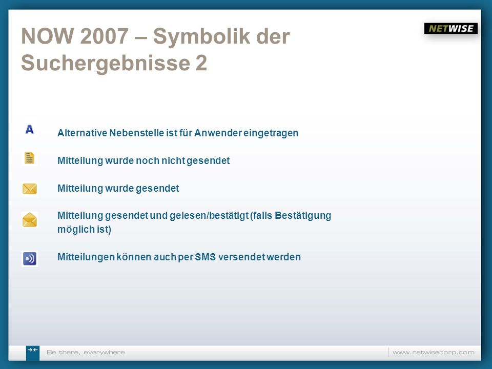 NOW 2007 – Symbolik der Suchergebnisse 2