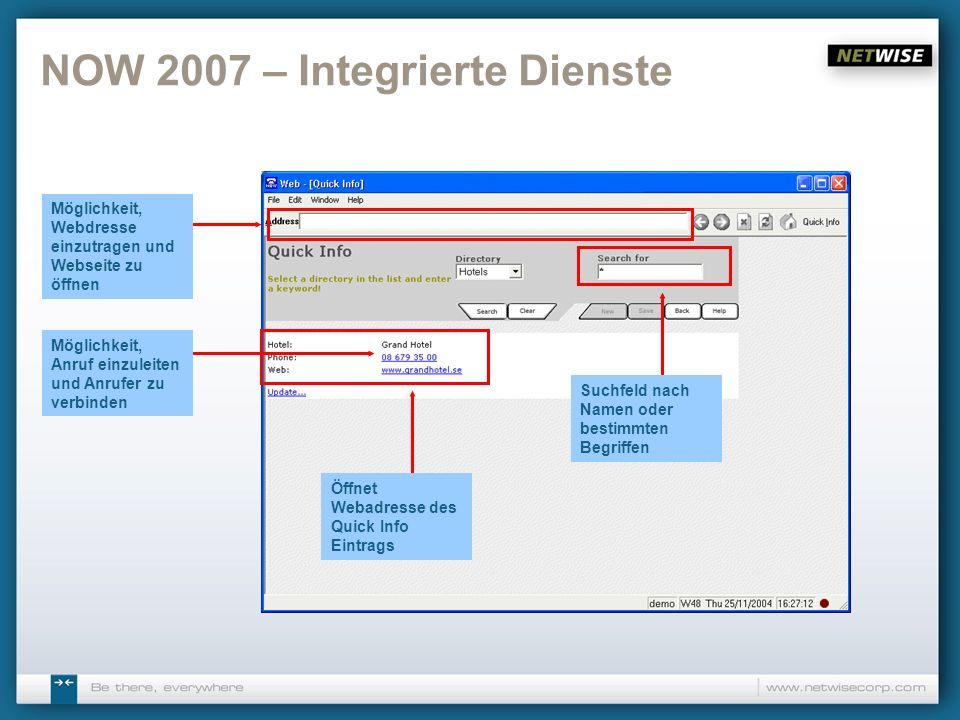 NOW 2007 – Integrierte Dienste