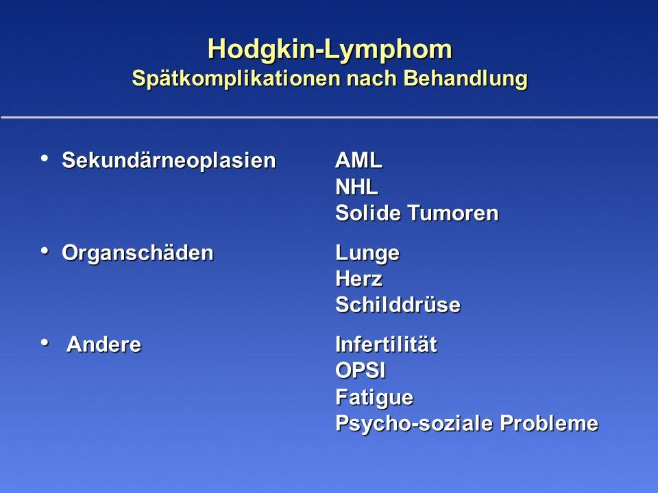 Hodgkin-Lymphom Spätkomplikationen nach Behandlung