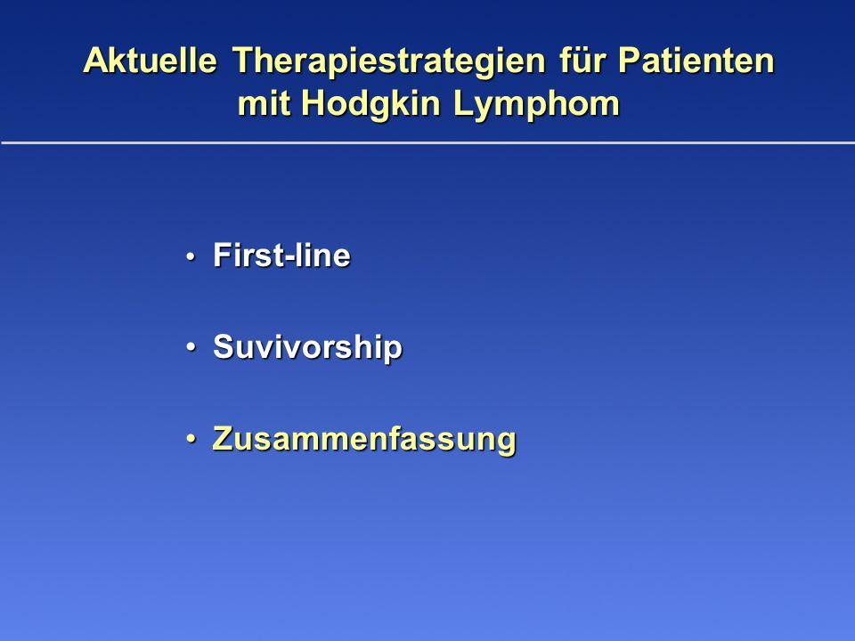 Aktuelle Therapiestrategien für Patienten mit Hodgkin Lymphom