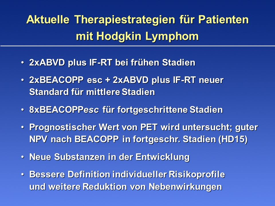 Aktuelle Therapiestrategien für Patienten