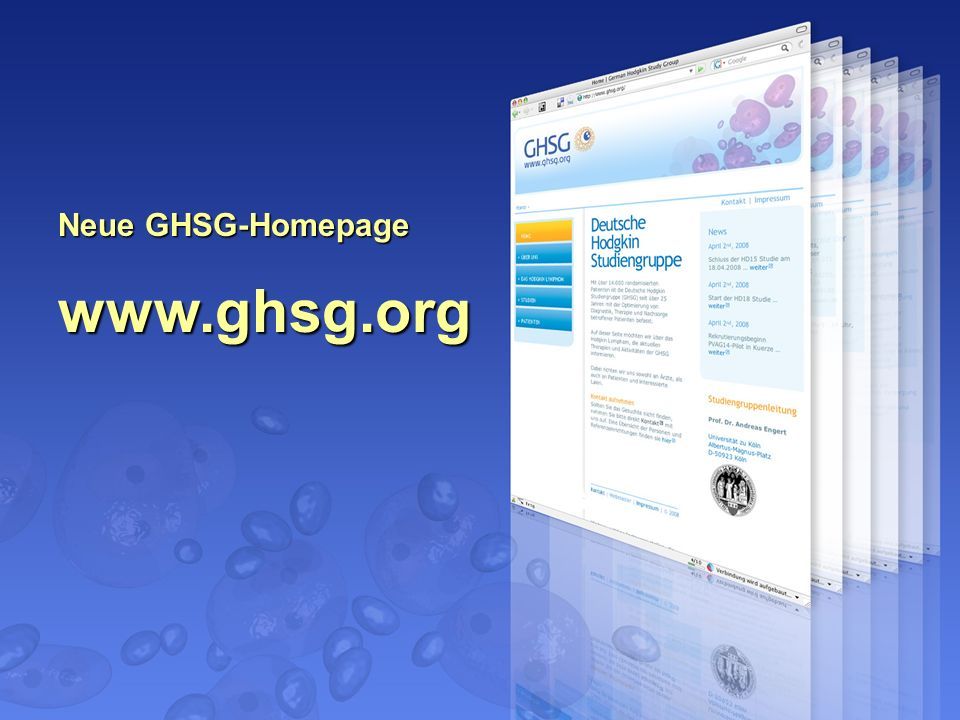 Neue GHSG-Homepage www.ghsg.org