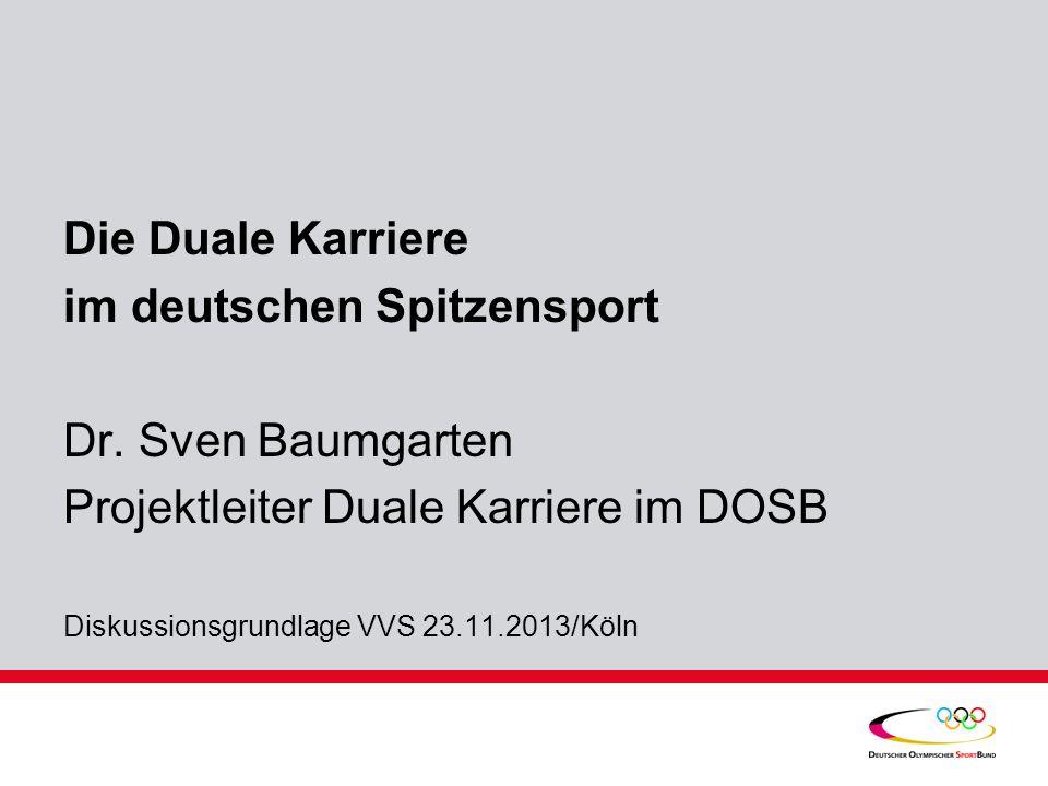 im deutschen Spitzensport Dr. Sven Baumgarten