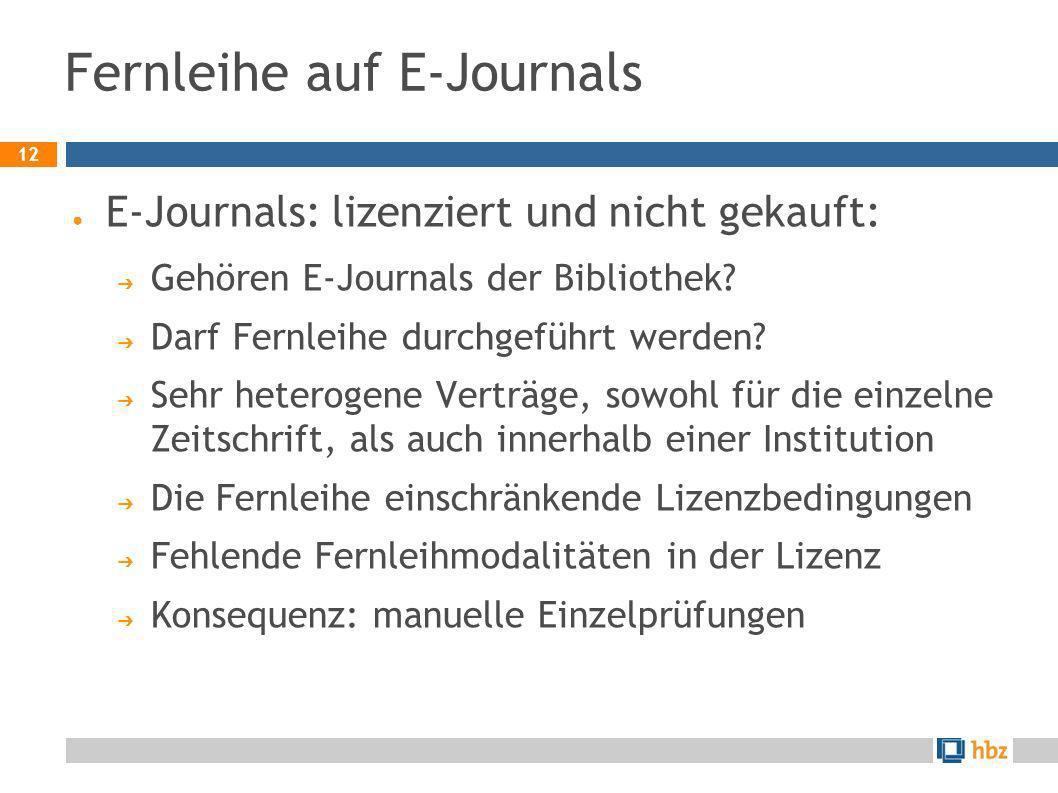 Fernleihe auf E-Journals