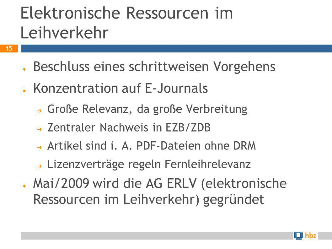 Elektronische Ressourcen im Leihverkehr