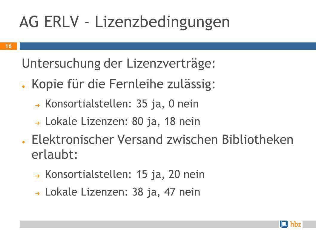 AG ERLV - Lizenzbedingungen