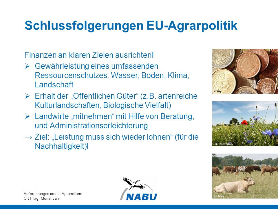 Schlussfolgerungen EU-Agrarpolitik