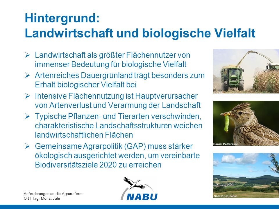 Hintergrund: Landwirtschaft und biologische Vielfalt