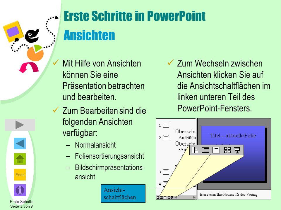 Erste Schritte in PowerPoint Ansichten