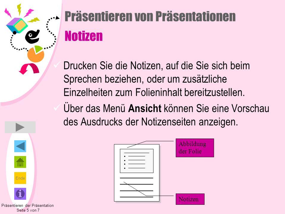 Präsentieren von Präsentationen Notizen