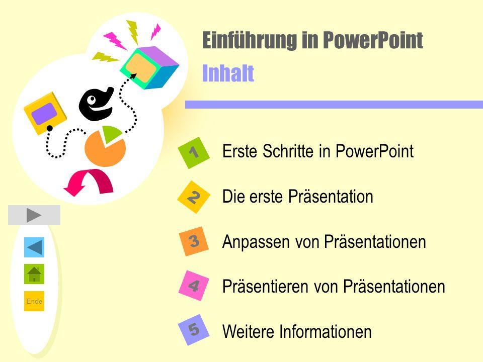 Einführung in PowerPoint Inhalt