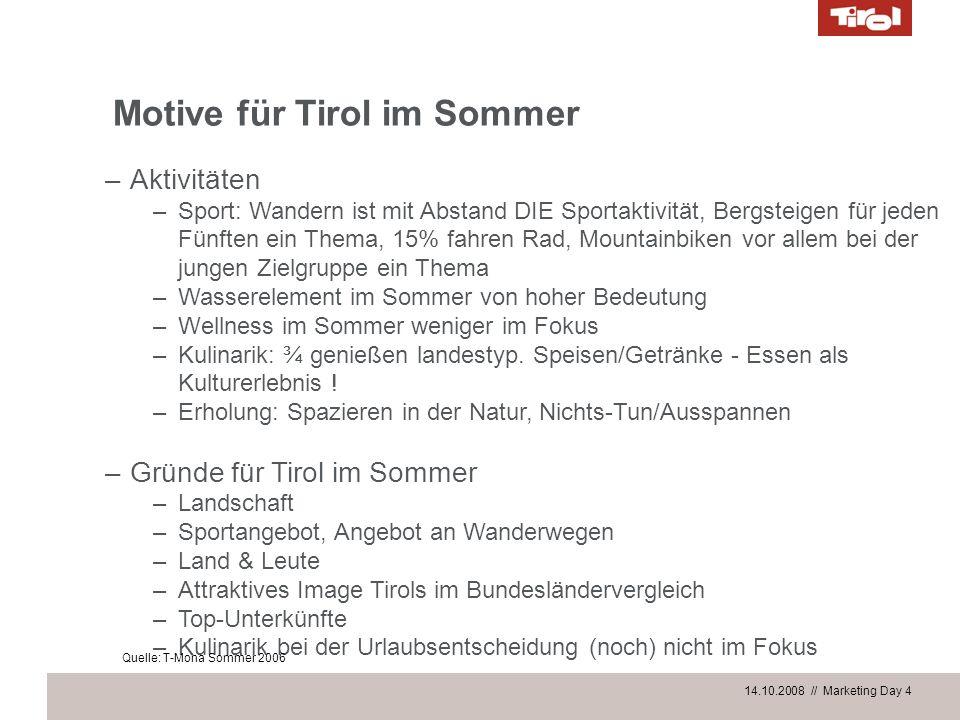 Motive für Tirol im Sommer