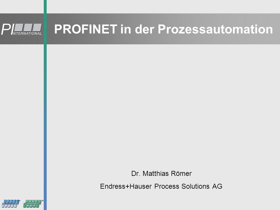 PROFINET in der Prozessautomation