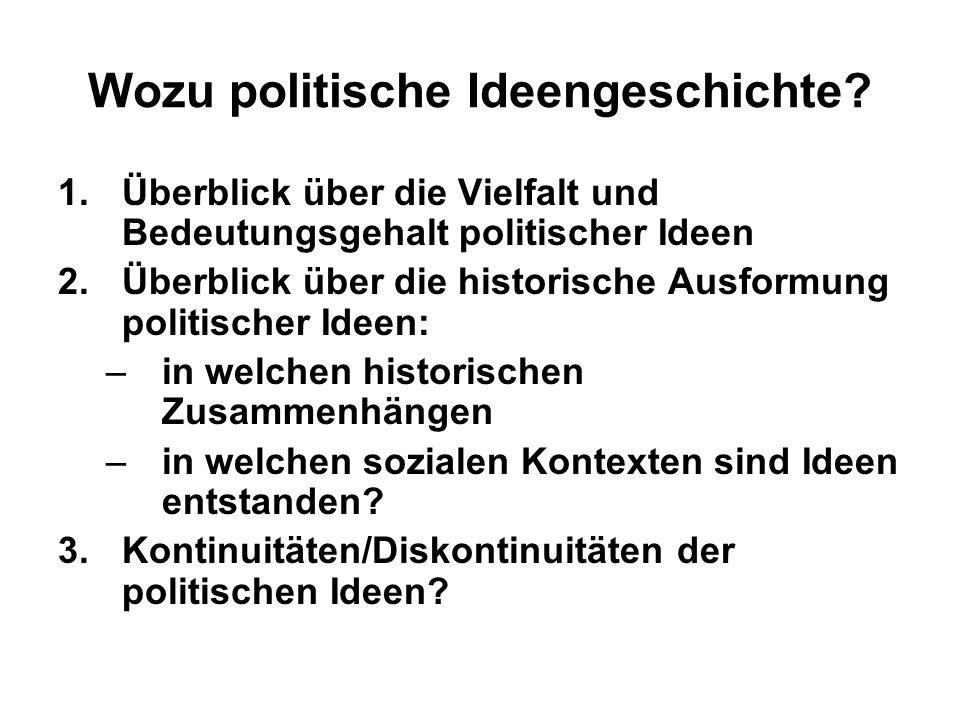 Wozu politische Ideengeschichte