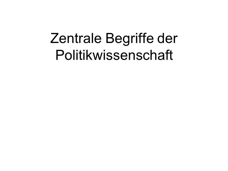 Zentrale Begriffe der Politikwissenschaft
