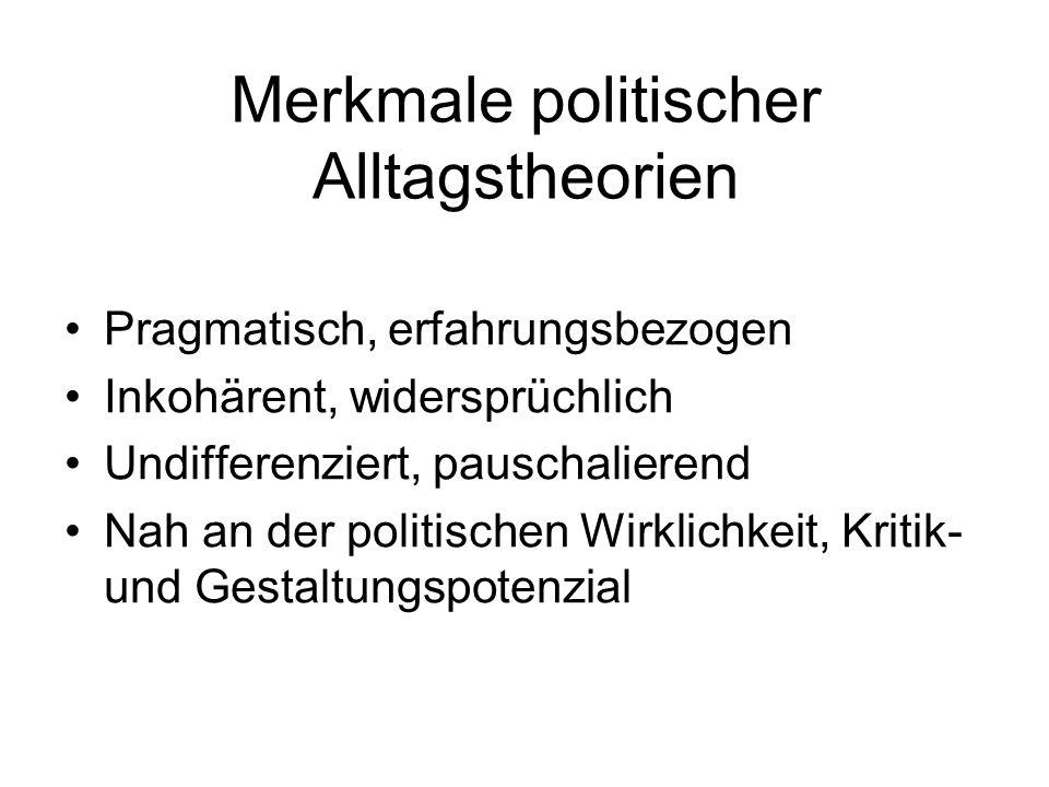 Merkmale politischer Alltagstheorien