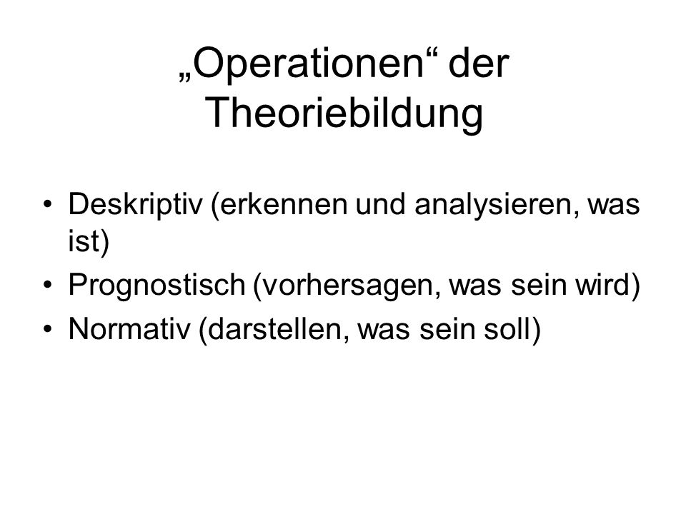 """Operationen der Theoriebildung"