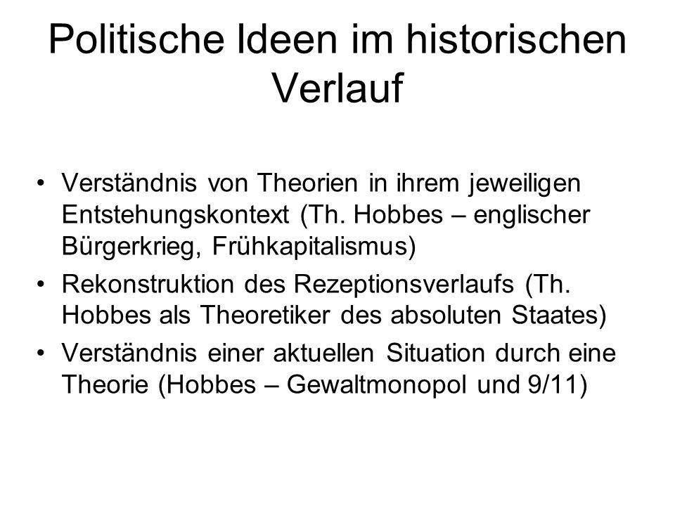 Politische Ideen im historischen Verlauf