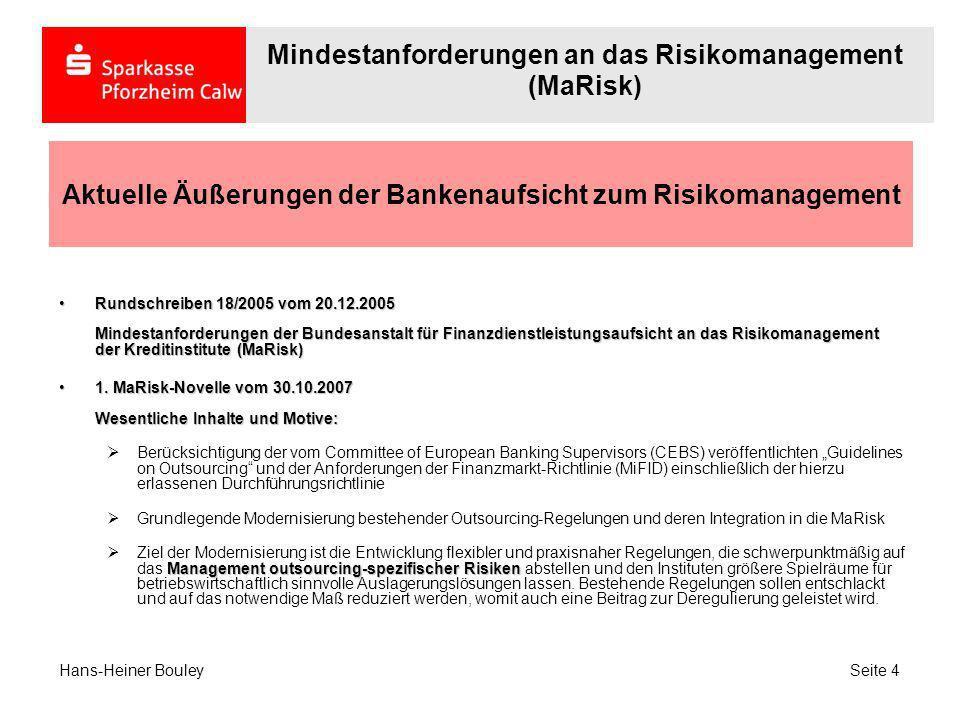 Aktuelle Äußerungen der Bankenaufsicht zum Risikomanagement