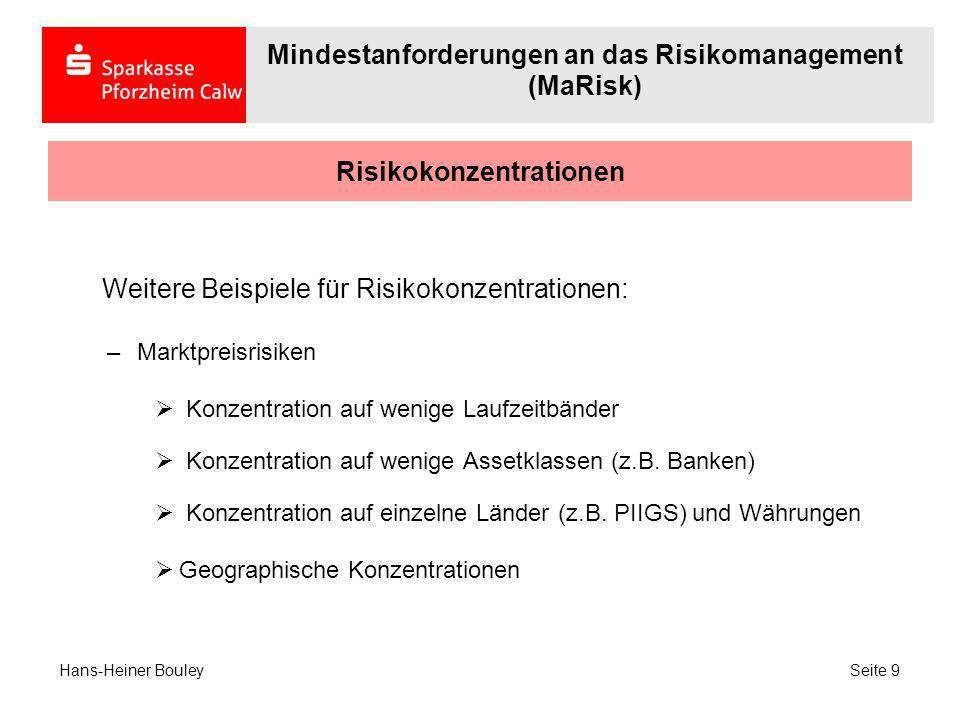 Risikokonzentrationen
