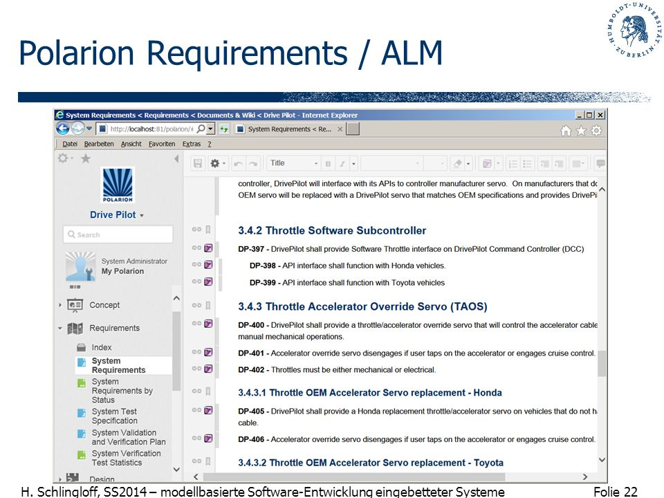 Polarion Requirements / ALM