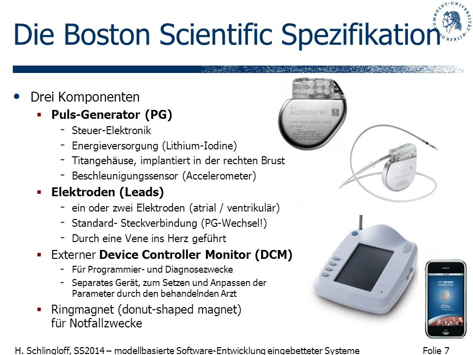 Die Boston Scientific Spezifikation