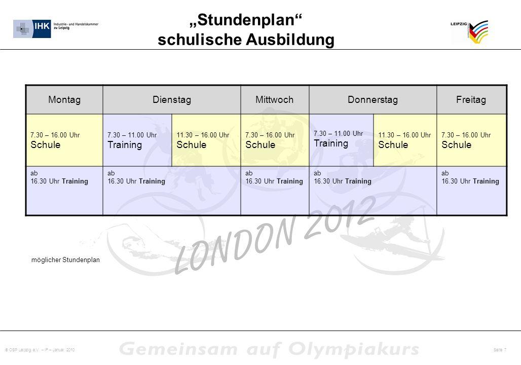 """""""Stundenplan schulische Ausbildung"""