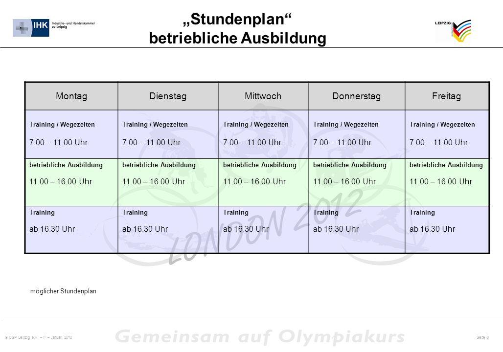 """""""Stundenplan betriebliche Ausbildung"""